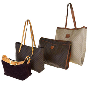 Celine Macadam 4-piece Set Leather,PVC Shoulder Bag Brown