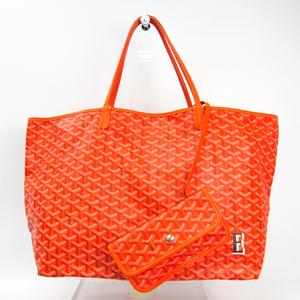 ゴヤール(Goyard) サン・ルイ GM レザー,キャンバス トートバッグ オレンジ