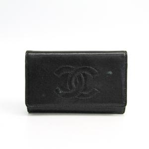 シャネル(Chanel) ココ レディース レザー キーケース ブラック