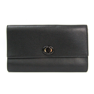 Valextra V5C43 Women's Leather Clutch Bag Black