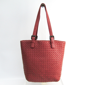 Bottega Veneta Intrecciato Women's Leather Tote Bag Rose Pink