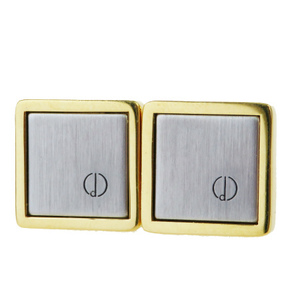 Dunhill Metal Bullet Back/toggle Cufflinks Gold