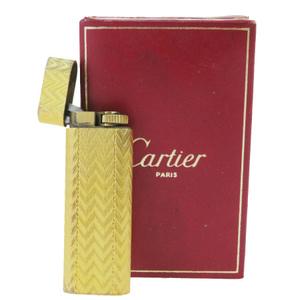 カルティエ(Cartier) たばこ用ライター ゴールド オーバル
