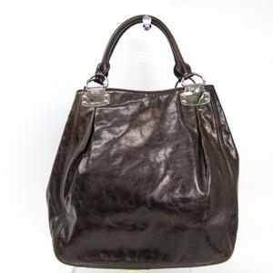 Miu Miu RR1445 Women's Leather Handbag Brown
