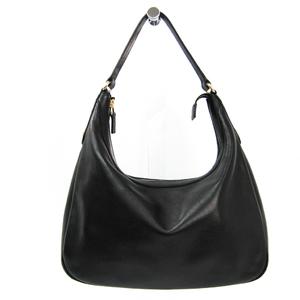 Gucci 153010 Leather Shoulder Bag Black