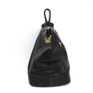 Loewe Leather Backpack Black