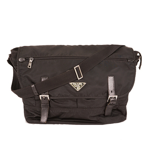 Prada Shoulder Bag Tessuto Men,Unisex,Women Nylon Shoulder Bag Black