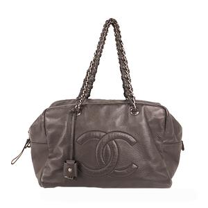 Chanel Chain Shoulder Women's Leather Boston Bag,Handbag,Shoulder Bag Black