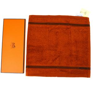 Hermes Face Towel Orange