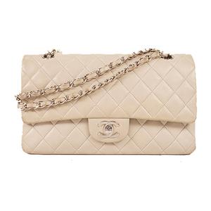 Auth Chanel Matelasse W Flap W Chain Shoulder Bag  Lambskin
