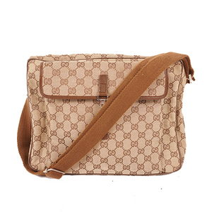 Auth Gucci GG Canvas Shoulder Bag