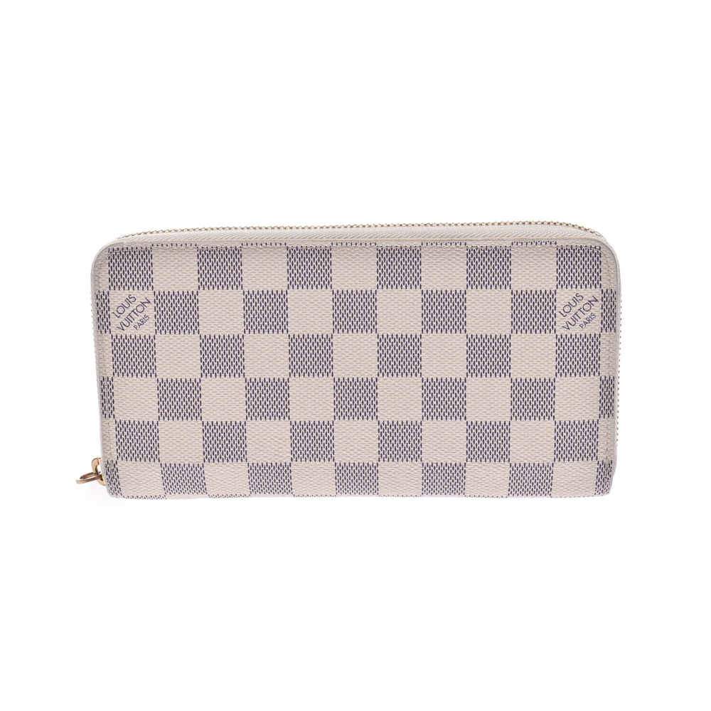 ルイ・ヴィトン(Louis Vuitton) ダミエアズール Zippy N60019 ダミエアズール 長財布(二つ折り) ホワイト