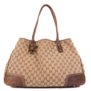 Auth Gucci Sherry Line  Tote Bag 161719 Men,Women,Unisex GG Supreme