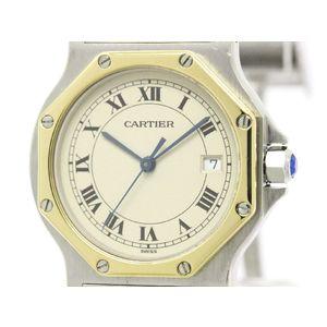 Cartier Santos Octagon Quartz Yellow Gold (18K),Stainless Steel Women's Dress Watch 187902