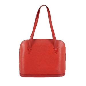 Louis Vuitton Epi M52287 Women's Handbag,Shoulder Bag Castilian Red