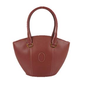 Cartier Must HandBag Women's Leather Handbag Bordeaux