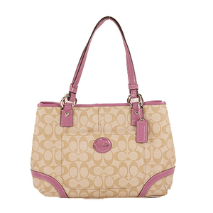 Coach Signature Tote Bag F18923 Women's PVC Handbag,Shoulder Bag,Tote Bag Beige