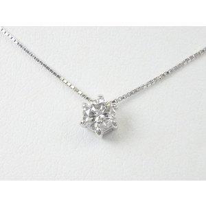 ネックレス K10WG ダイヤモンド