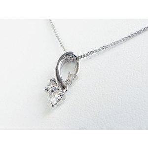ネックレス K18WG ダイヤモンド0.1ct