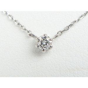 【日本国内のみ】 ネックレス K18WG ダイヤモンド 【新品同様】 レディース