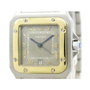 Cartier Santos Galbee Quartz Yellow Gold (18K),Stainless Steel Men's Dress Watch