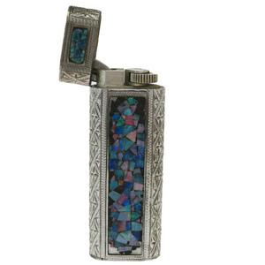 カルティエ(Cartier) たばこ用ライター シルバー モザイク オパール