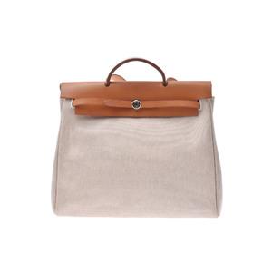 Hermes Her Bag Leather Bag Natural