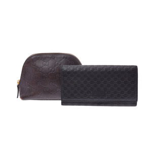 Gucci グッチ Leather Wallet Black