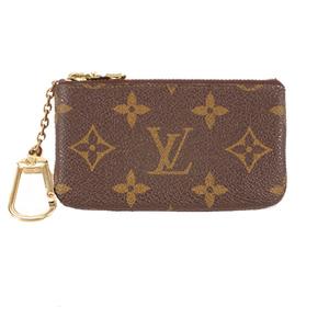 Louis Vuitton Monogram Pochette Cles M62650 Unisex,Women,Men Monogram Coin Purse/coin Case Brown