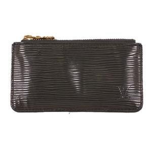 Louis Vuitton Epi M63802 Men,Women,Unisex Epi Leather Coin Purse/coin Case Noir
