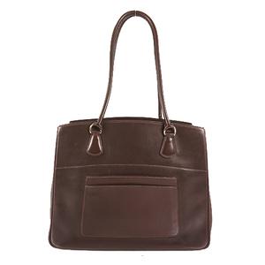 Hermes Tote Bag LA □DStamp Mark Women's Box Calf Leather Handbag,Tote Bag Dark Brown