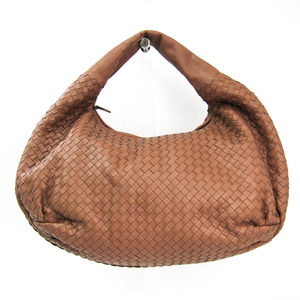 Bottega Veneta Intrecciato 232500 Leather Shoulder Bag Light Brown
