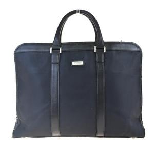 Burberry Black Label Nova Check Nylon,Leather Briefcase Black