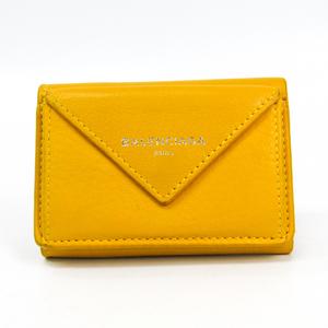バレンシアガ(Balenciaga) ペーパー ミニウォレット 391446 レディース レザー 財布(三つ折り) イエロー