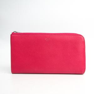 セリーヌ(Celine) ラージハーフジップマルチファンクション 103043 レディース  カーフスキン 長財布(二つ折り) ピンク