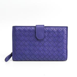 ボッテガ・ヴェネタ(Bottega Veneta) イントレチャート 121060  カーフスキン 財布(二つ折り) パープル