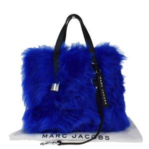 マーク・ジェイコブス(Marc Jacobs) ファー,レザー ハンドバッグ ブルー
