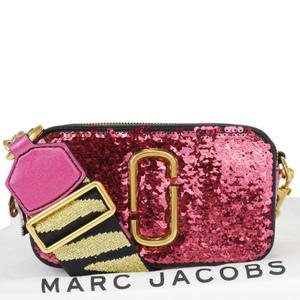 マーク・ジェイコブス(Marc Jacobs) スナップショット/Snapshot 2WAY レザー,スパンコール ショルダーバッグ ピンク