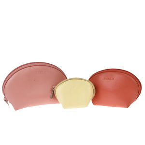 Furla Matryoshka Leather Pouch Pink
