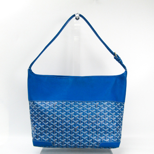Goyard Grenadine Women's Leather,Canvas Shoulder Bag Blue