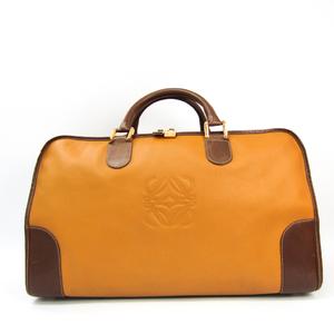 Loewe Amazona Unisex Leather Handbag Beige,Brown