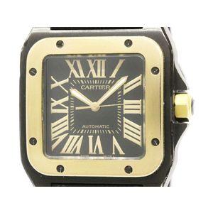 Cartier Santos 100 Automatic Stainless Steel,Pink Gold (18K) Men's Dress Watch W2020009