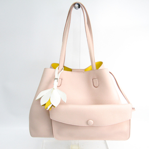 Christian Dior Blossom M1131PFVF Women's Leather Tote Bag Pale Orange,Yellow