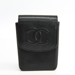 Chanel Cigarette Case Caviar Leather Black A13511