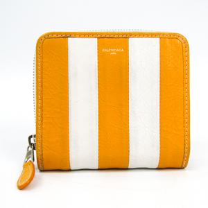 バレンシアガ(Balenciaga) 443657 レディース  カーフスキン 財布(二つ折り) ホワイト,イエロー
