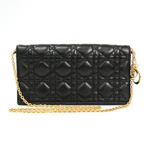 Christian Dior Cannage/Lady Dior Women's Leather Clutch Bag,Shoulder Bag Black