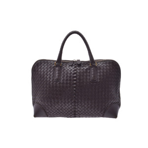Bottega Veneta Intrecciato Leather Bag Brown