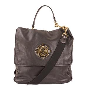 Auth Loewe Maia Shoulder Bag  Black