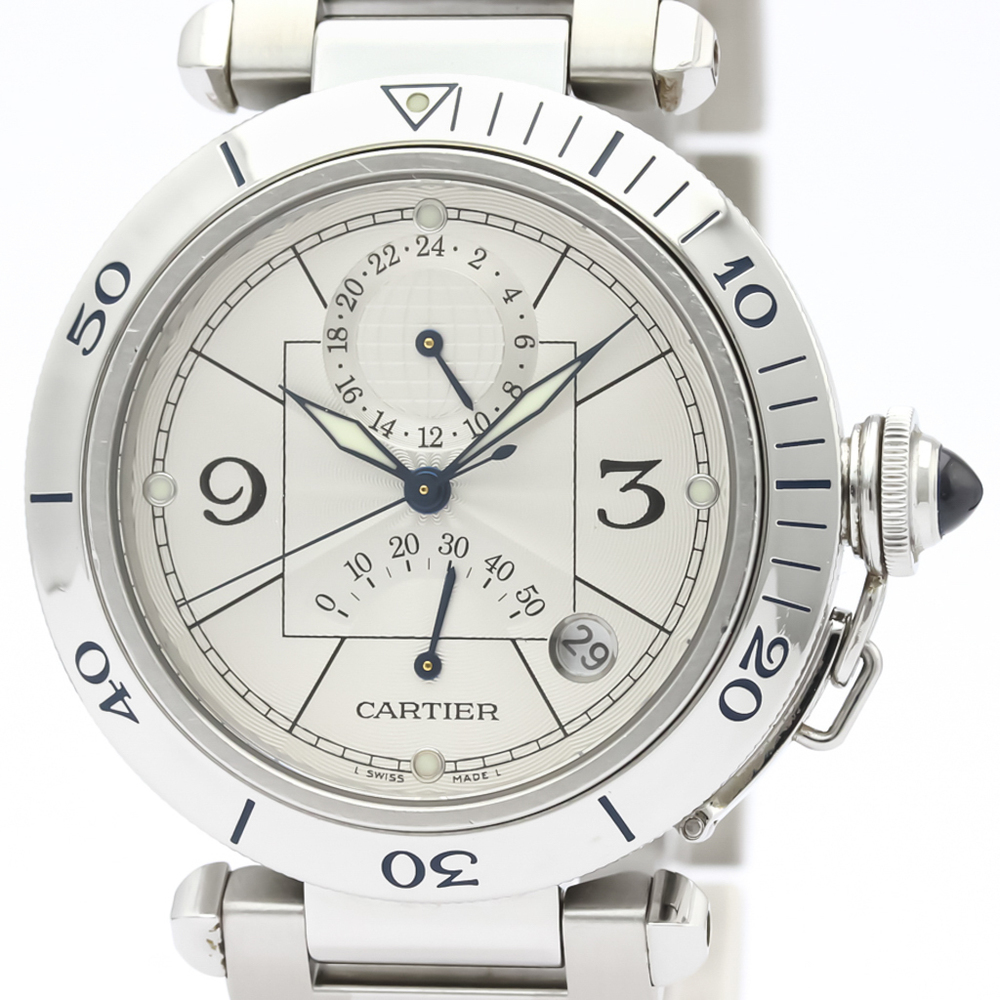 Cartier Pasha 38 Automatic Stainless Steel Men's Dress Watch W31037H3