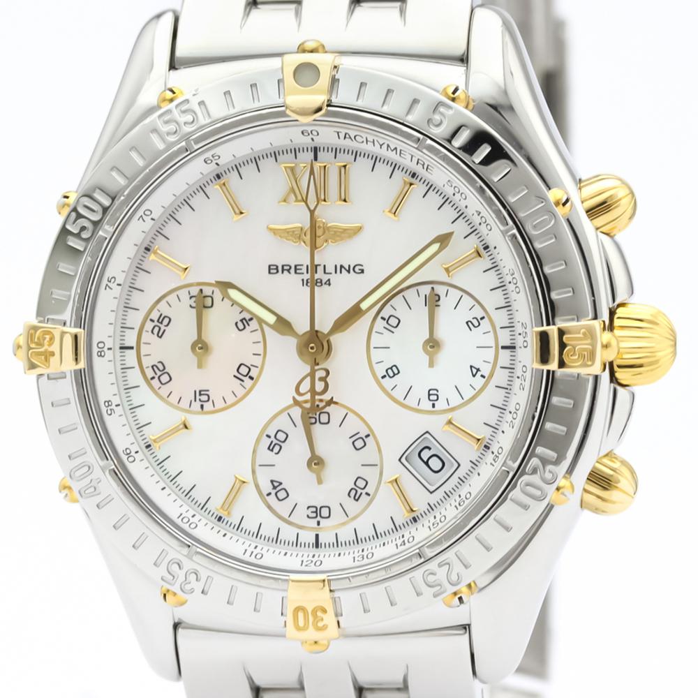 Breitling Windrider Quartz Stainless Steel,Yellow Gold (18K) Men's Sports Watch B55348